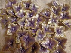 36 Gumpaste /Fondant Edible Hydrangea by MarysCakeConfections, $19.99