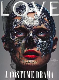 Love Magazine - Love Magazine Special Edition Covers F/W 12 (I want to do this...all it takes is silver leaf and some adhesive...hmmm)  (Model: Malgosia Bela)