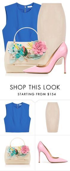 """""""Untitled #2069"""" by ayannap ❤ liked on Polyvore featuring Alice + Olivia, Oasis, Delpozo and Gianvito Rossi"""
