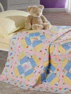 Easy Baby Wall Hanging Quilt Patterns for Upcoming Baby Showers Free Baby Quilt Patterns, Patchwork Quilt Patterns, Quilting Patterns, Baby Boy Quilts, Quilted Wall Hangings, Quilt Sizes, Free Baby Stuff, Soft Colors, Pattern Ideas