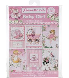 Custom Designs Pink Teddy Bear Scrapbook Papers baby girl 12 feuilles