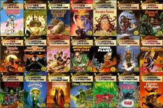 Fighting Fantasy Gamebooks. Here's just a small selection of the most awesome books you will ever read/play. I have been reading them for 27 years and I will never get bored of them. Thank Thor they are still making them so I can keep collecting them.