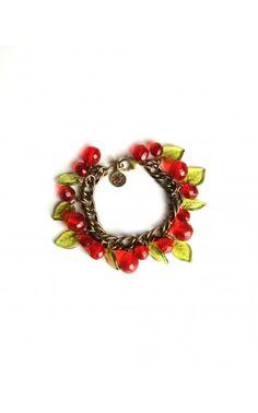 Cherries Jubilee Charm Bracelet by Sweet Romance