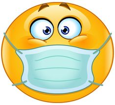 Smiley with breathing mask. on those smoggy days, or smelly things. Smiley Emoji, Funny Emoji Faces, Emoticon Faces, Bunny Emoji, Kiss Emoji, Emoji Images, Emoji Pictures, Funny Pictures, Animated Emoticons