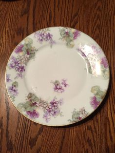 Thomas Sevres Bavaria Purple Forget Me Not Floral Decorator Plate…