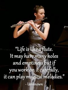 I'm in band and play the flute. Lol