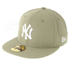 Cap NEW ERA - LEAGUE BASIC NY YANKEES 59 FIFTY KHAKIWHITE 523ed1c4fe3c