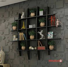 🌟 💖 🌟 💖 Decoration for small apartments wall shelves for living room Wall Rack Design, Tv Wall Design, Bookshelf Design, Wall Shelves Design, Tv Wall Shelves, Unique Wall Shelves, Wall Shelf Decor, Ethnic Home Decor, Indian Home Decor