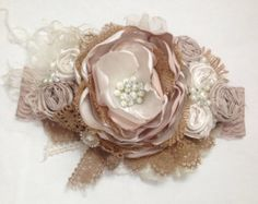 Country Romance over the top Headband couture by ChloeRoseCouture
