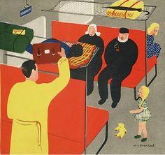 "Marco Oppers (pseudoniem van Wim van Overbeek & Magda Versteeg) : ""Okki Joessah op het station"", 1939 // Atelier pour enfants"