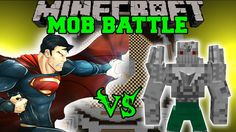 SUPERMAN VS DOOMSDAY - Minecraft Mod Battle - Mob Battles - Minecraft Mods