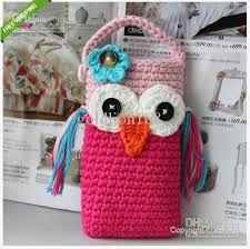 crocheted owl bag