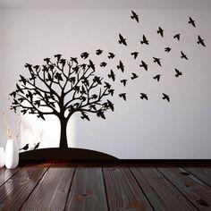 Vinilo Decorativo - Arbol de pájaros. Encuéntralo en www.pick2stick.com desde 53,50€