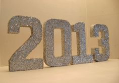 2013 GADUATION GLITTERED Numbers, Banner, Signage, High School, college via Etsy
