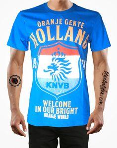 ORANJE GEKTE HOLLAND Football T-shirt in Blue