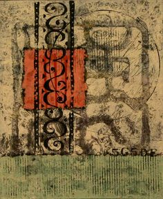 Anne Moore: Ambient Signs. Monotypes, 11 x 9 block