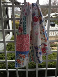 quilt made from vintage tablecloths