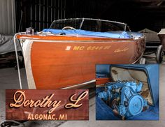 22 foot Chris Craft Utility wooden boat, circa 1955 Chris Craft Boats, Runabout Boat, Wooden Boats, Crafts, Beautiful, Vintage, Wood Boats, Manualidades, Handmade Crafts