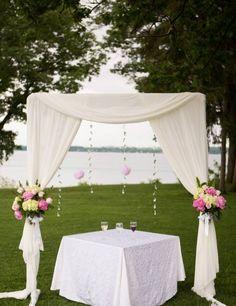 Wedding arbor  Photos courtesy of Megan Dailor Photography