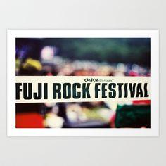 """FUJI rock smash 12"""" Art Print by siegfy - $15.00"""