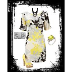 yellow and Grey, created by kristin-blevins on Polyvore