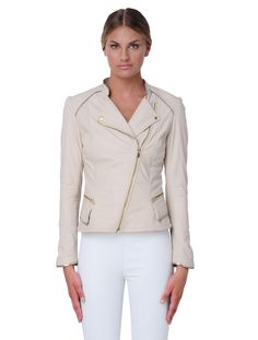 Neutral with a touch of gold. Meet the SHANA Gold Trimmed Jacket: http://lamarquecollection.com/product/shana-gold-trimmed-jacket… #lamarque