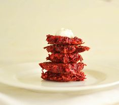 Ruby Red Beet Latkes with Cumin - The Little Ferraro Kitchen