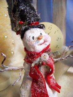 He melts my heart.  :)  OOAK Sculpted Paper Mache Folk Art Vintage by pearlavenuestudios, $40.00