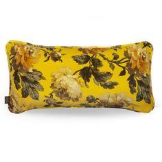 PEONEDEN Rectangular Velvet Cushion - Ochre