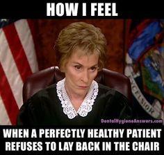 Judge Judy bothers a few people at on a Tuesday night. Dental Humor, Dental Hygienist, Dental Assistant, Nurse Humor, Math Memes, Class Memes, Math Humor, Fb Memes, Humor