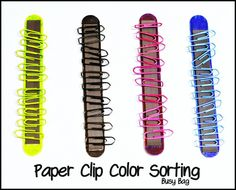 Paper Clip Color Sorting (Busy Bag Idea)