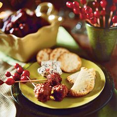 Cranberry Meatballs ~ Making these meatballs ahead and freezing them is a great time saving tip  PLUS 40 OTHER Holiday Finger Food Appetizers