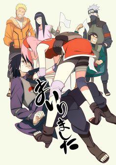 Min Tosu, NARUTO, Haruno Sakura, Might Guy, Uchiha Sasuke, Hyuuga Hinata