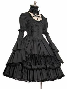 Angel-secret lolita low collar ruffle one-piece  Rococo  dress vintage dress US $75.00