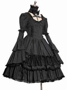 Angel-secret lolita low collar ruffle one-piece  Rococo  dress vintage dress US $75.00