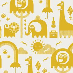 Jonathan Adler Wallpaper Junior Yellow