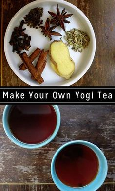 Make warming, calming yogi tea from scratch. You can tweak the recipe to suit your tastes!