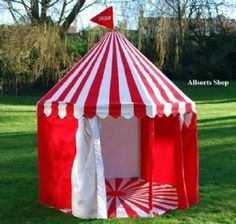 Circus Play Tent - Red and White