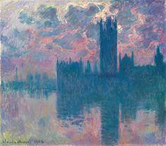 Claude Monet, Le Parlement, soleil couchant (The Houses of Parliament, at Sunset), 1900–1901. Courtesy Christie's.