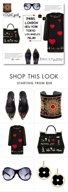 """Untitled #511"" by jelenalazarevicpo ❤ liked on Polyvore featuring Dolce&Gabbana, Chamak by Priya Kakkar and Asha by ADM"