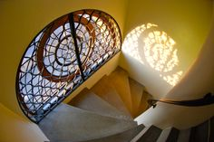 A stairwell in the Sheldonian Theatre