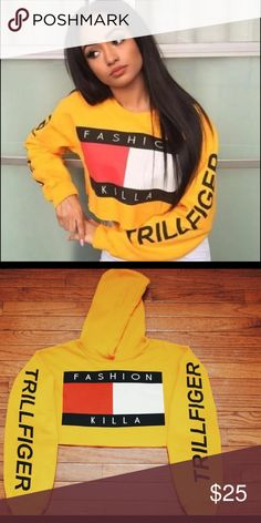 4f114eac2fdba9 Shop Women s Tommy Hilfiger Yellow size S Sweatshirts   Hoodies at a  discounted price at Poshmark. Description  Available in size Medium.