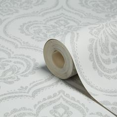 Fine Décor Sparkle Soft Grey Ornamental Damask Glitter Effect Wallpaper | Departments | DIY at B&Q
