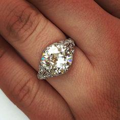 3.64ct old European cut diamond @singlestonemissionstreet