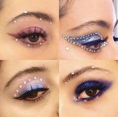 Bold Makeup Looks, Creative Makeup Looks, Party Makeup Looks, Dramatic Makeup, Birthday Makeup Looks, Pretty Eye Makeup, Edgy Makeup, Grunge Makeup, Stunning Makeup