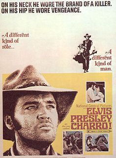 Elvis in the 1969 western charro. Old Movies, Vintage Movies, Great Movies, Elvis Presley Movies, Elvis Presley Photos, Old Movie Posters, Concert Posters, Victor French, Hooray For Hollywood