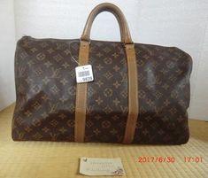 Louis Vuitton Monogram Keepall 45 travel boston bag. French company. Vintage  used. No lock. (lv21)   Lollipuff 22e630afb9