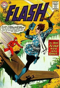 """1964 Alley Award: Best Short Story - """"Doorway to the Unknown"""", by John Broome & Carmine Infantino, The Flash (DC Comics) Old Comic Books, Vintage Comic Books, Comic Book Artists, Comic Book Covers, Pulp Fiction Comics, Flash Comics, Best Short Stories, Dc Comics Superheroes, Silver Age Comics"""