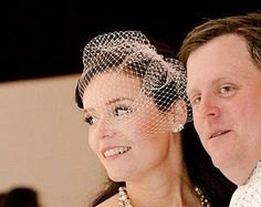 Birdcage Veil, Bridal Veil, Wedding Veil, Blush Veil, Soft Peach Veil, White Veil, Ivory Veil
