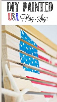 Flag Signs, Diy Signs, Wood Signs, American Flag Decor, Patriotic Party, July Crafts, Summer Parties, Usa Flag, Best Part Of Me